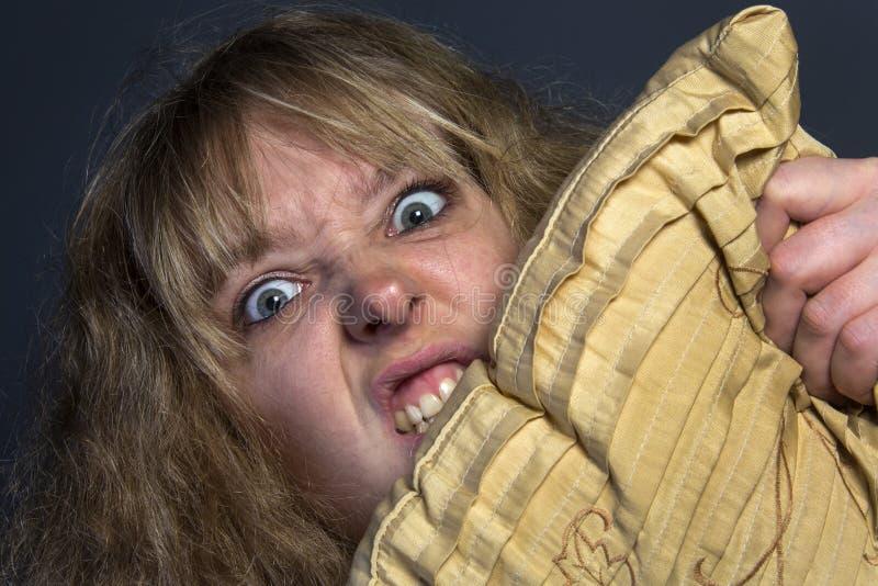 Психотическая женщина стоковые изображения