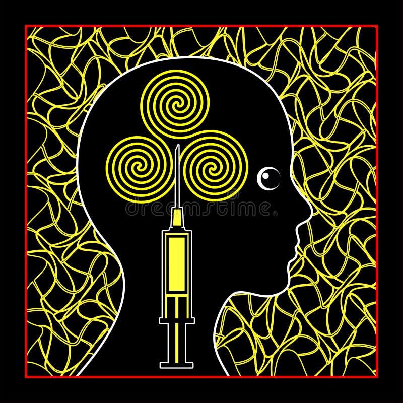 Психотропные лекарства иллюстрация вектора