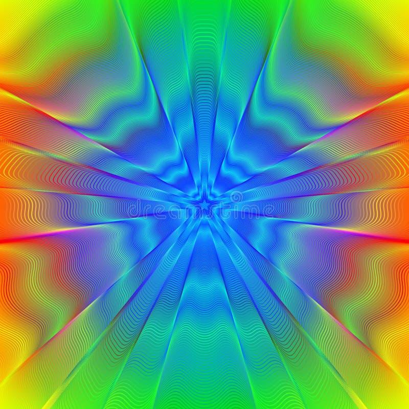 Психоделическая звезда иллюстрация штока