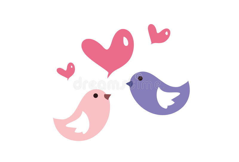 Птица влюбленности иллюстрация вектора