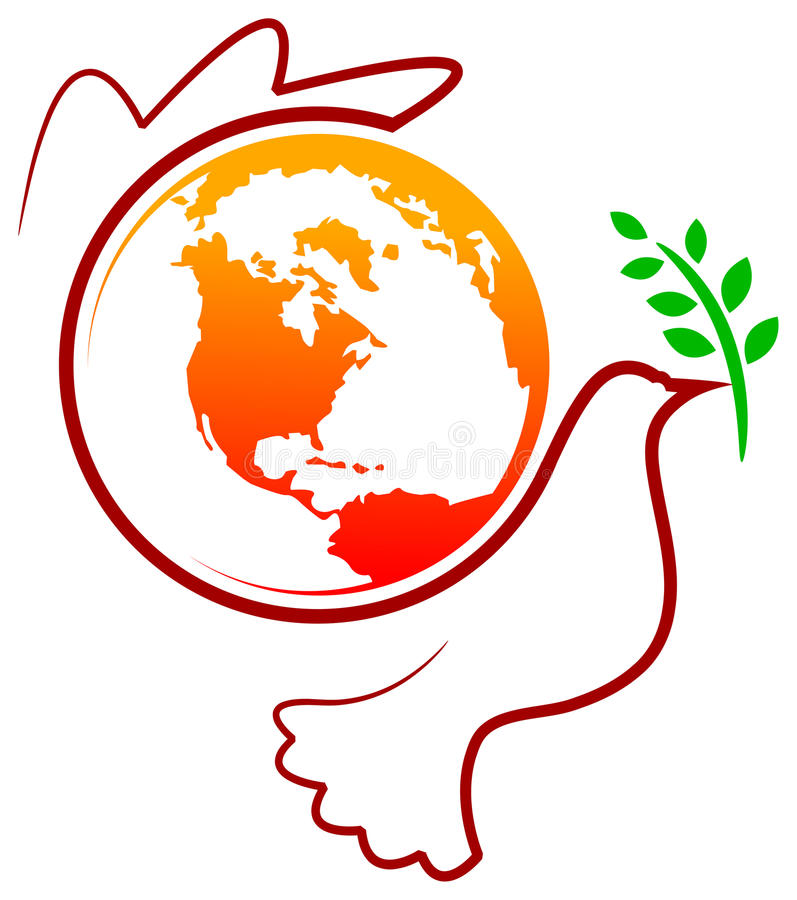 Птица мира иллюстрация штока