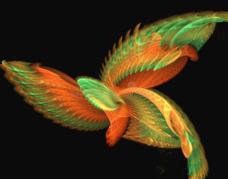 птица мистическая иллюстрация вектора