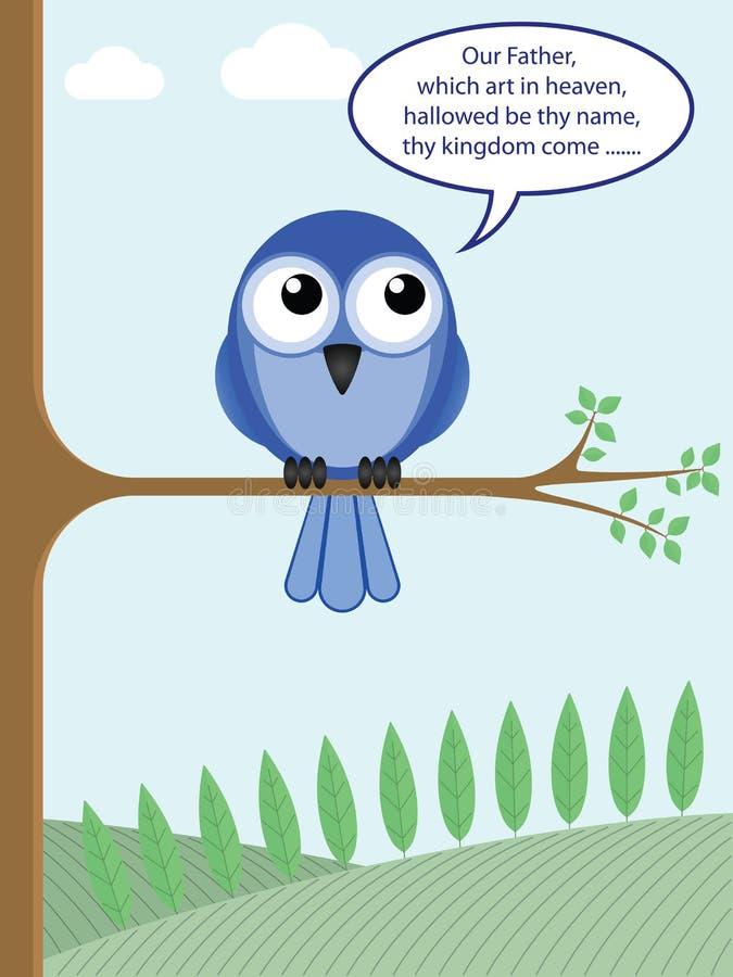птица молит иллюстрация вектора