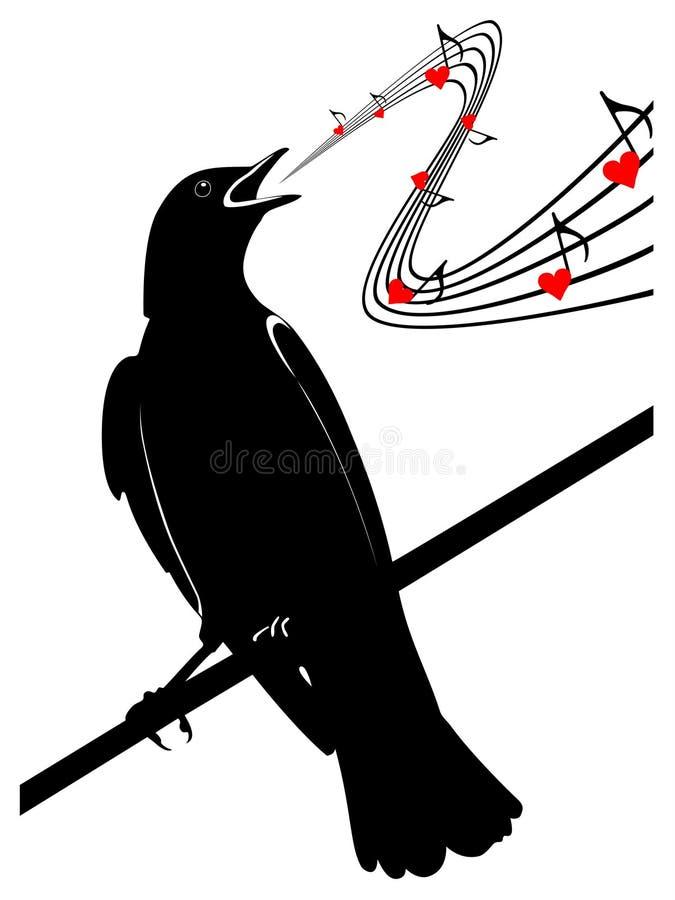 Download Птица на ветви иллюстрация штока. иллюстрации насчитывающей иллюстрация - 40589688