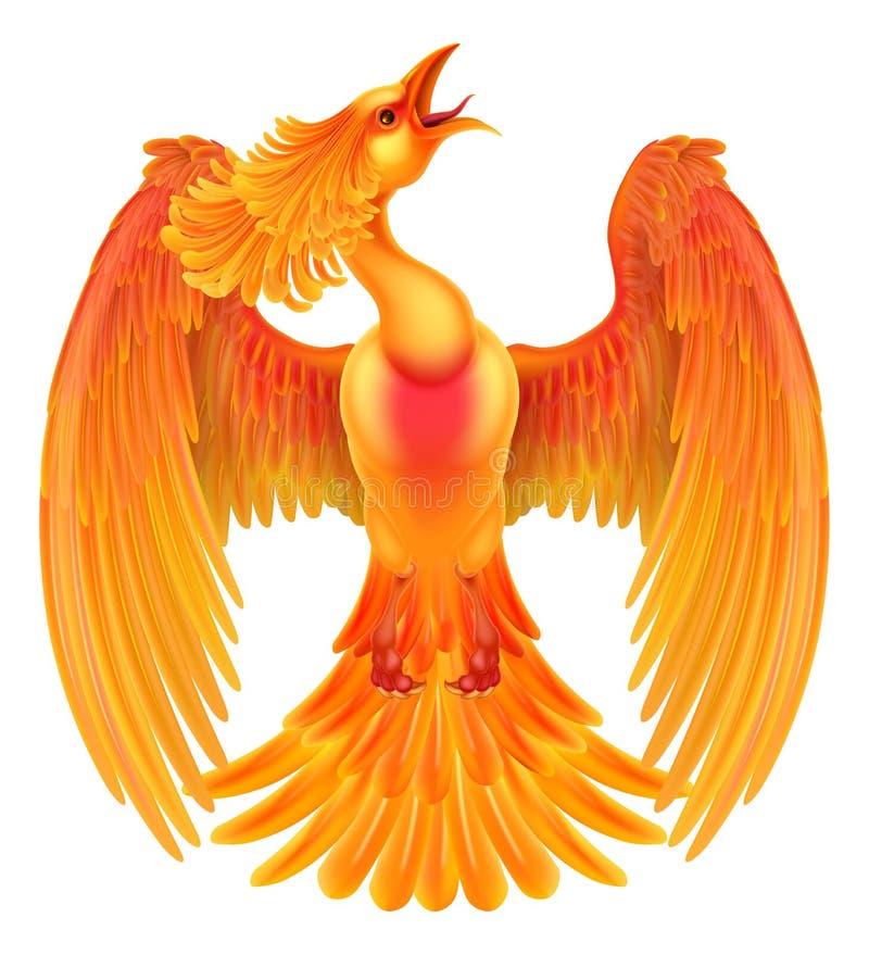 Птица огня Феникса иллюстрация вектора