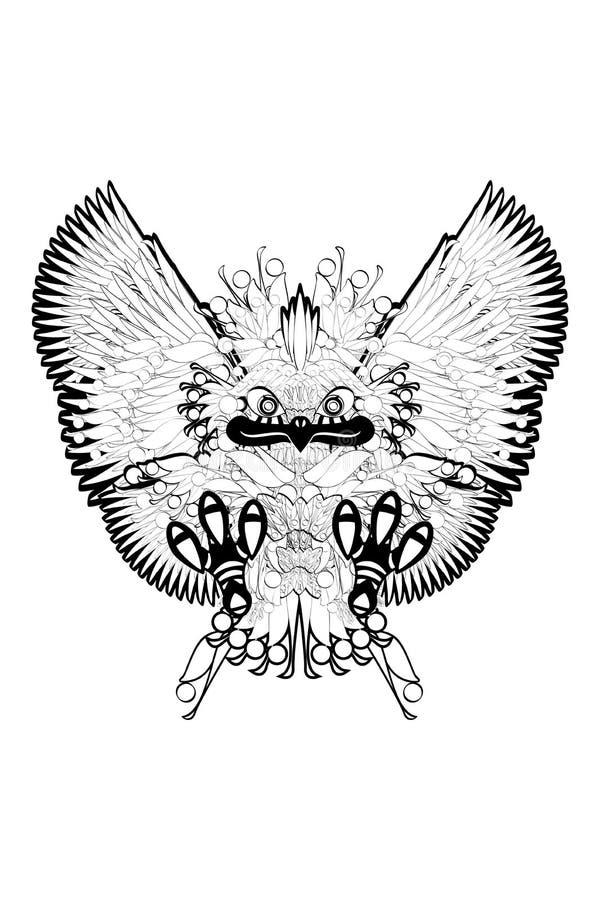 Птица орла Prey иллюстрация штока