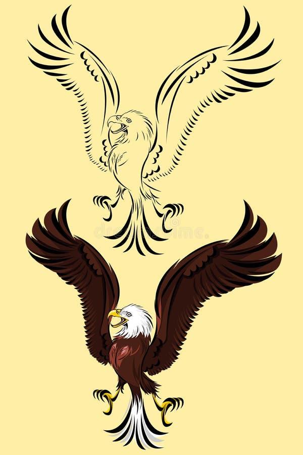 Птица орла Prey иллюстрация вектора