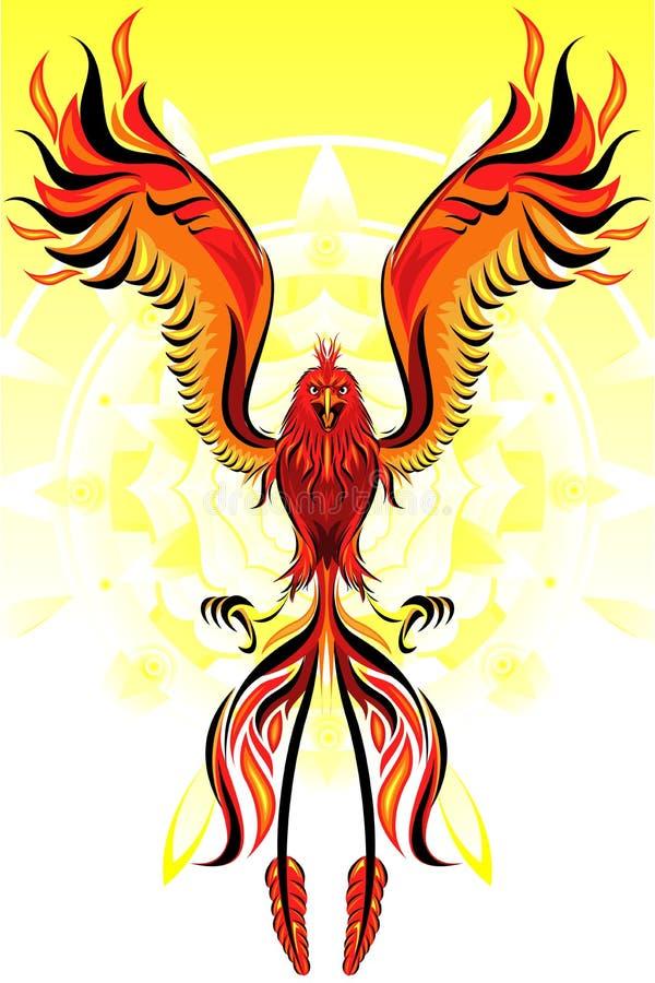 Птица пламени Феникс иллюстрация вектора