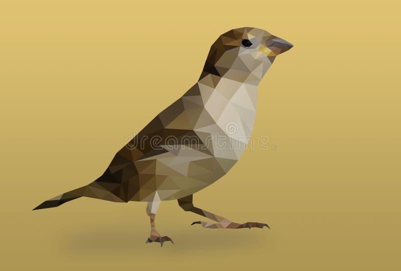 Птица полигона стоковое изображение rf