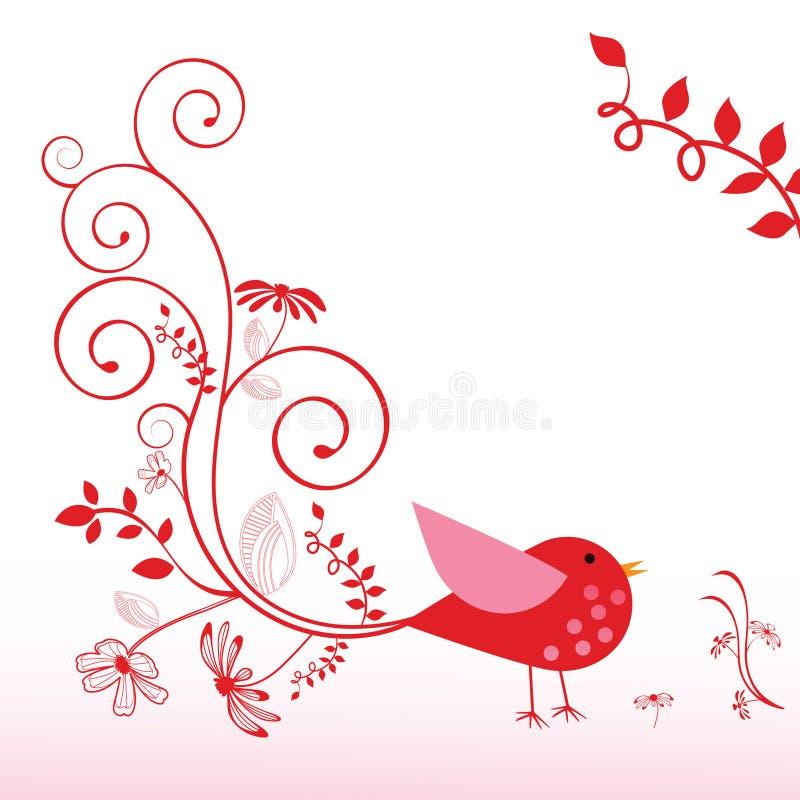 птица причудливая иллюстрация вектора
