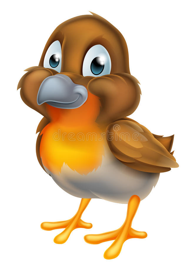 Птица Робина шаржа бесплатная иллюстрация
