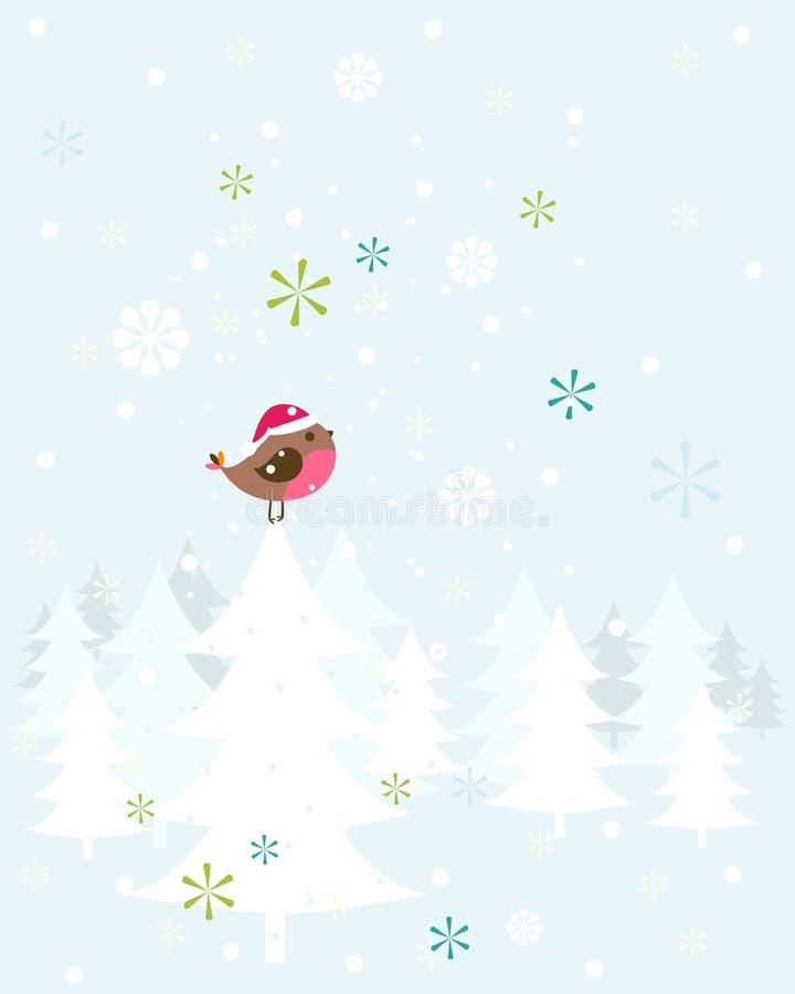 Птица рождества Робина иллюстрация штока