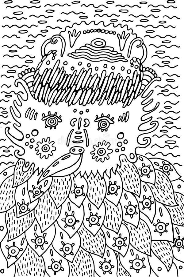 взрослый дизайн страницы книжка раскраски с фантастической