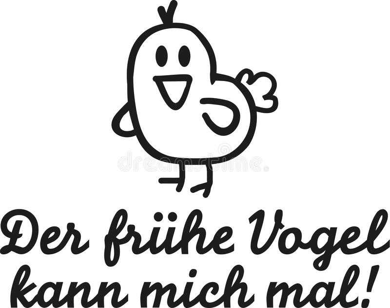 птица улавливает предыдущего глиста Немецкое высказывание бесплатная иллюстрация