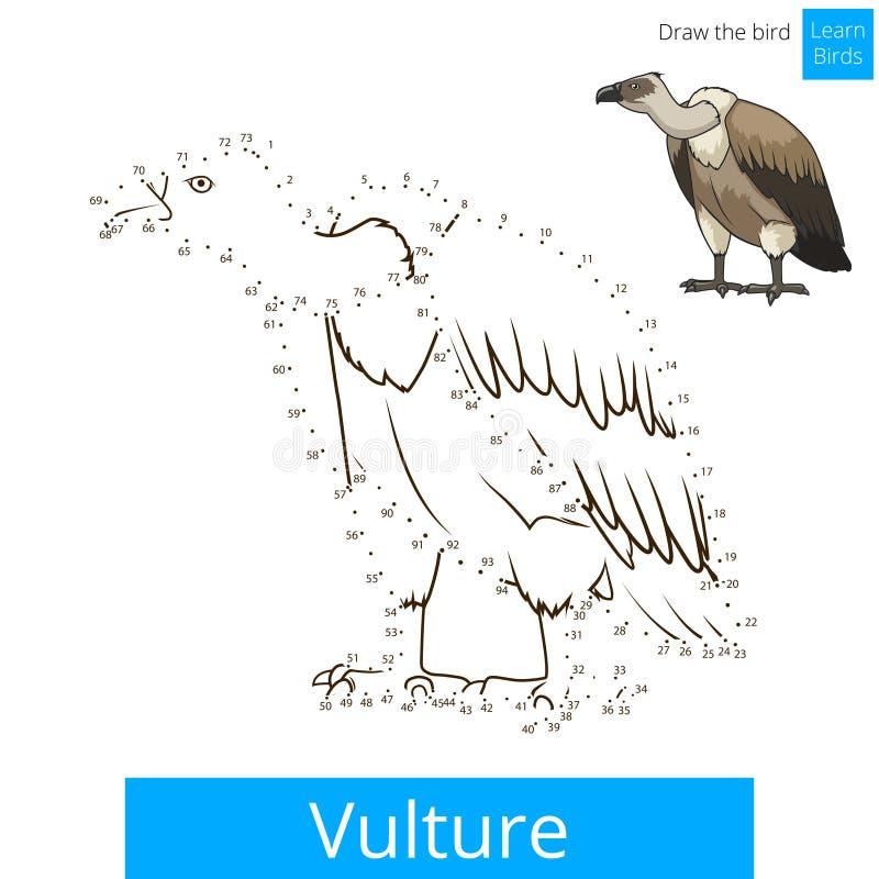 Птица хищника учит нарисовать вектор иллюстрация штока
