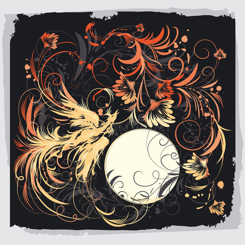 птица цветет phoenix бесплатная иллюстрация