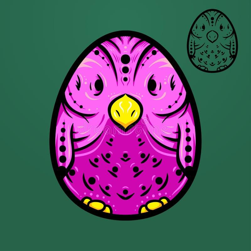 Птица яичка пасхи этническая стоковая фотография rf