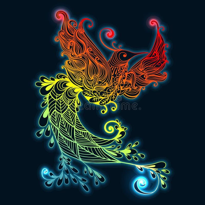птица phoenix иллюстрация штока