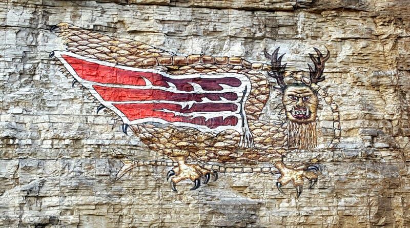 Птица Piasa стоковые изображения