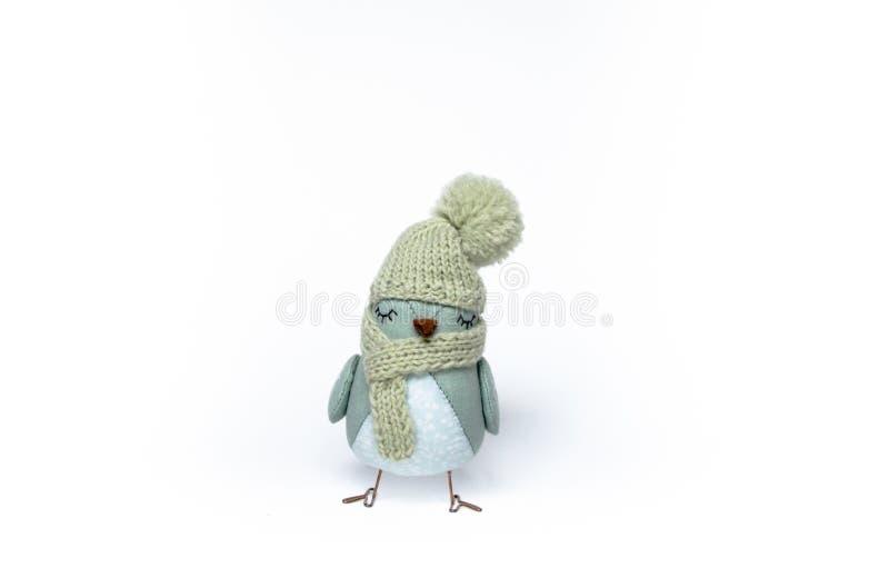 Птица ` s Нового Года на белой предпосылке стоковые изображения rf