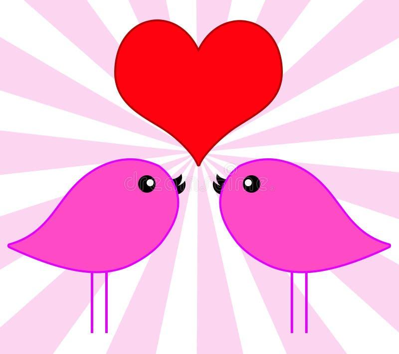 Download Птицы влюбленности иллюстрация штока. иллюстрации насчитывающей толкотня - 18385325