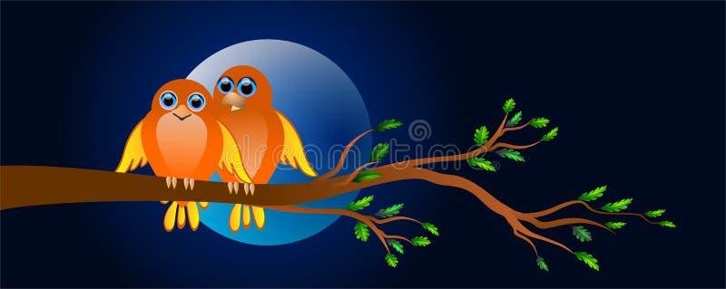 Птицы в влюбленности иллюстрация штока