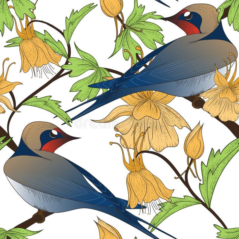Download птицы делают по образцу безшовное Иллюстрация вектора - иллюстрации насчитывающей безшовно, украшение: 41661383