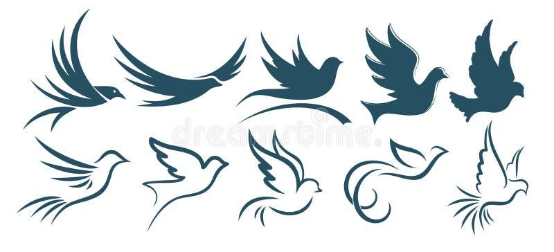 Птицы логотипов иллюстрация штока