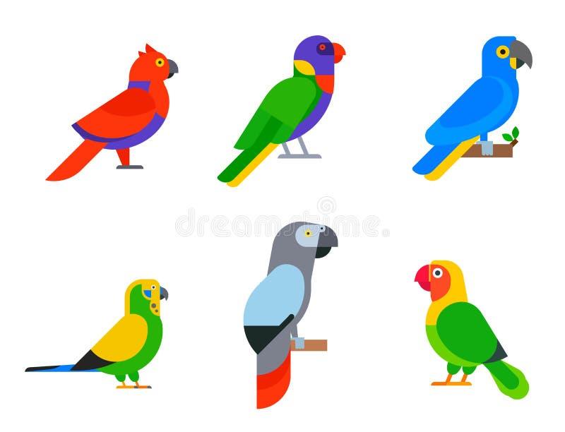 Птицы попугаев разводят длиннохвостые попугаев животной природы вида тропические бесплатная иллюстрация