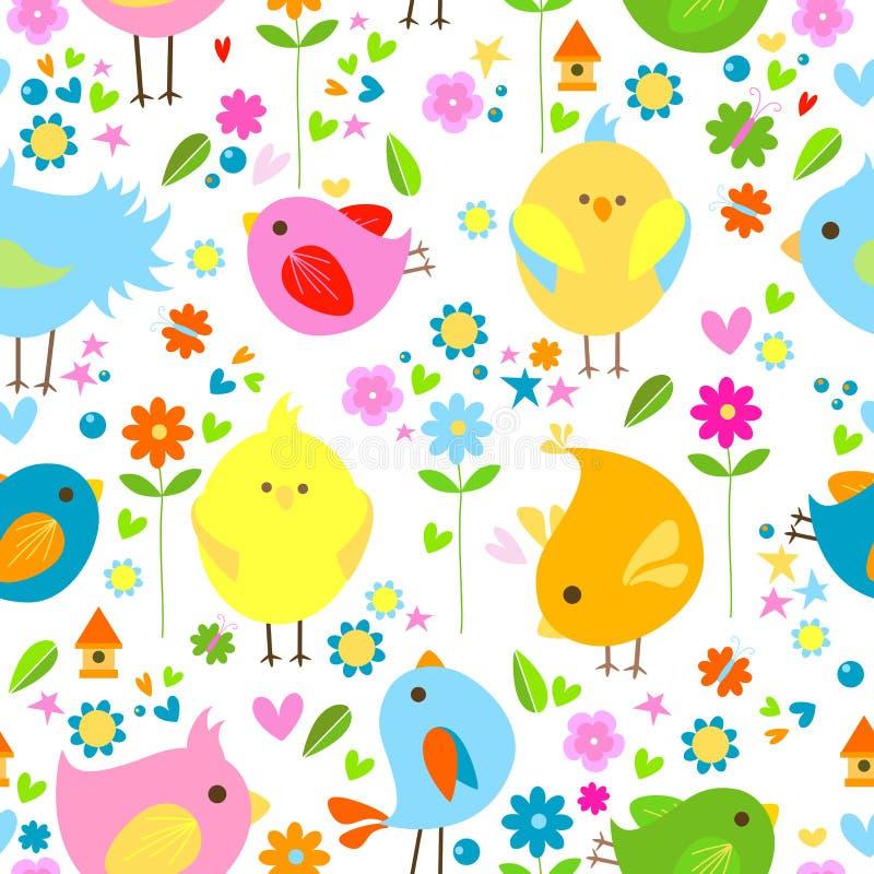 птицы предпосылки иллюстрация вектора