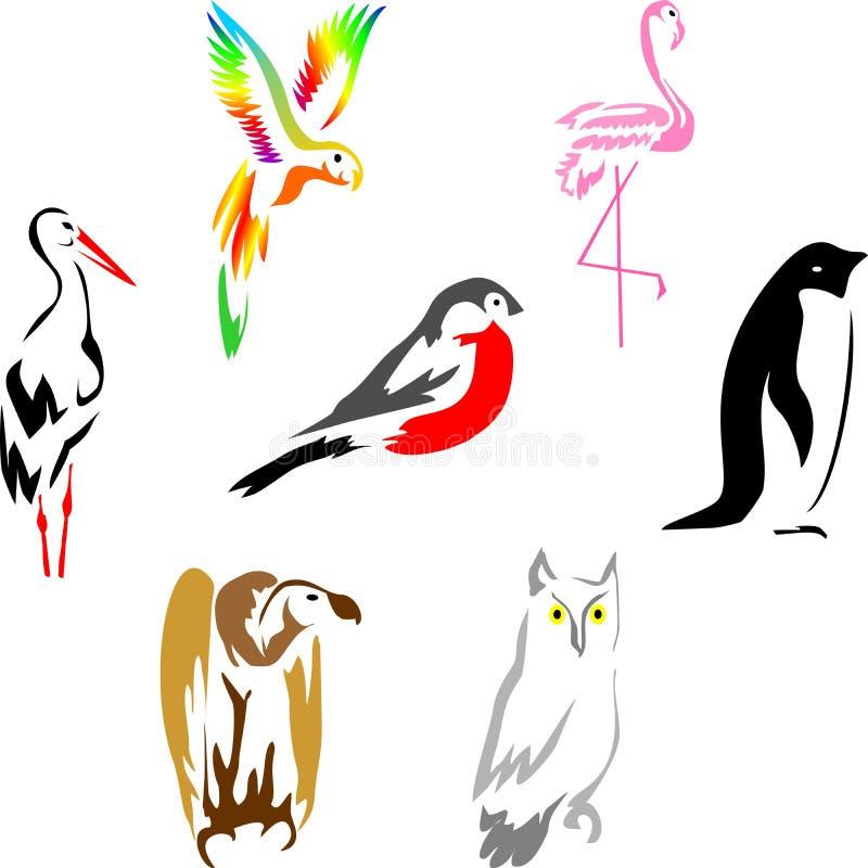 птицы 1 иллюстрация вектора