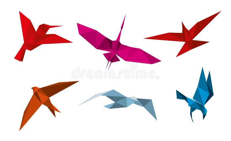 Птицы origami вектора иллюстрация вектора