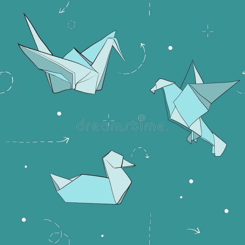 Download Птицы Origami от бумаг-вектор-картины Иллюстрация вектора - иллюстрации насчитывающей декоративно, картина: 40579960