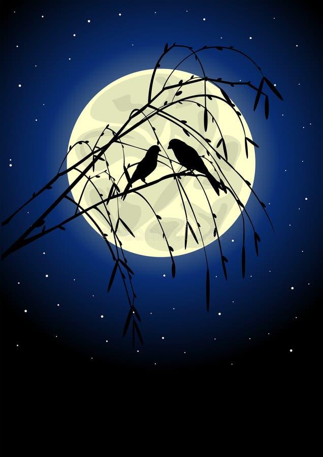 птицы silhouette 2 иллюстрация штока