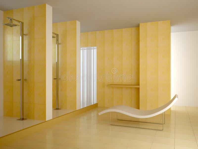 публика ванной комнаты иллюстрация штока