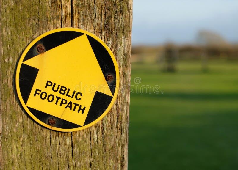 публика footpath стоковые фото