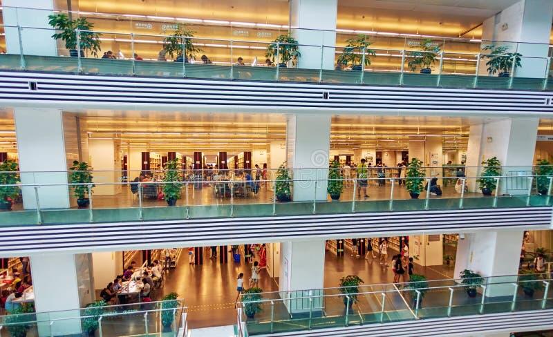 Публичная библиотека, библиотека Гуанчжоу стоковые фотографии rf