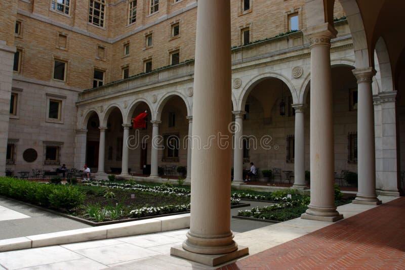 Публичная библиотека Бостона одна из самых больших муниципальных систем публичной библиотеки в Соединенных Штатах стоковое изображение rf