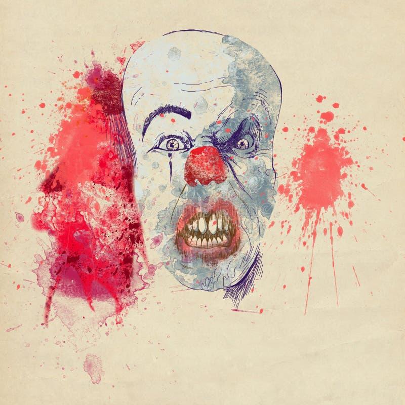 Пугающая маска halloween бесплатная иллюстрация