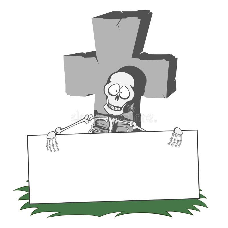 пугающая надгробная плита иллюстрация штока