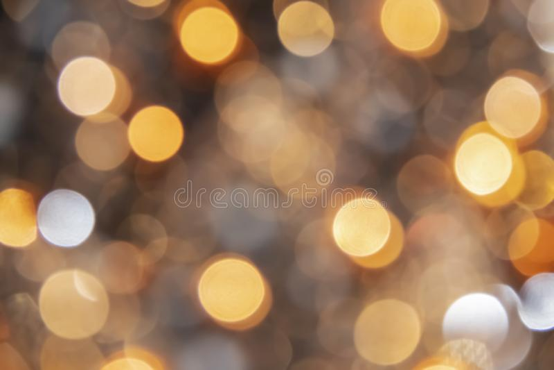 Пугающая предпосылка bokeh smokey в золотах и апельсинах и коричневых цветах стоковое фото