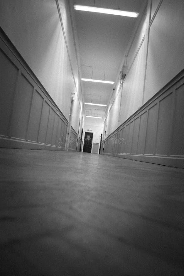 Пугающий коридор стоковая фотография