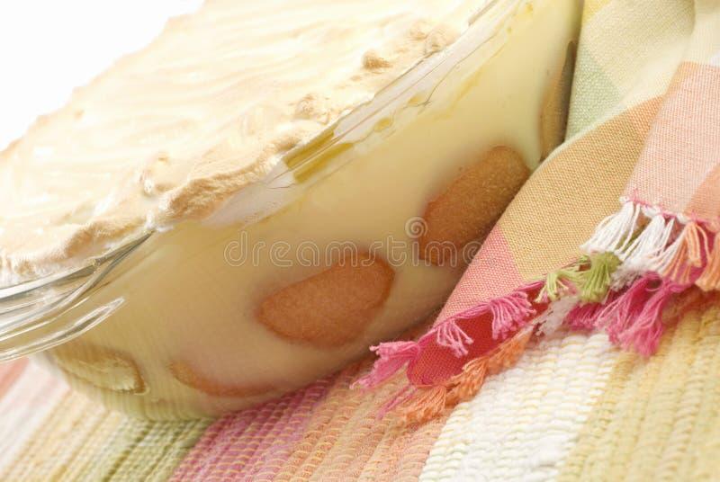 пудинг банана домодельный стоковое изображение
