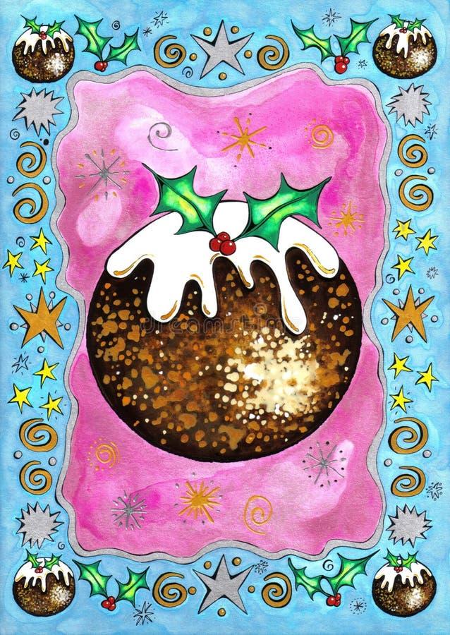 пудинг рождества иллюстрация штока