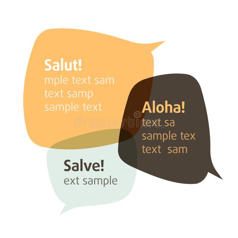 пузыри вводят препятствовали тексту беседы s vector ваше бесплатная иллюстрация