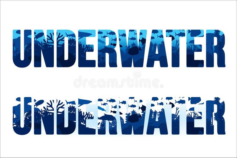 пузыри копируют вектор текста космоса seaweeds моря жизни иллюстрации рыб бесплатная иллюстрация