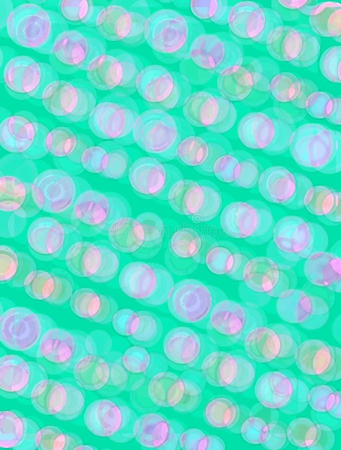 Пузыри радужные в живой бирюзе иллюстрация штока