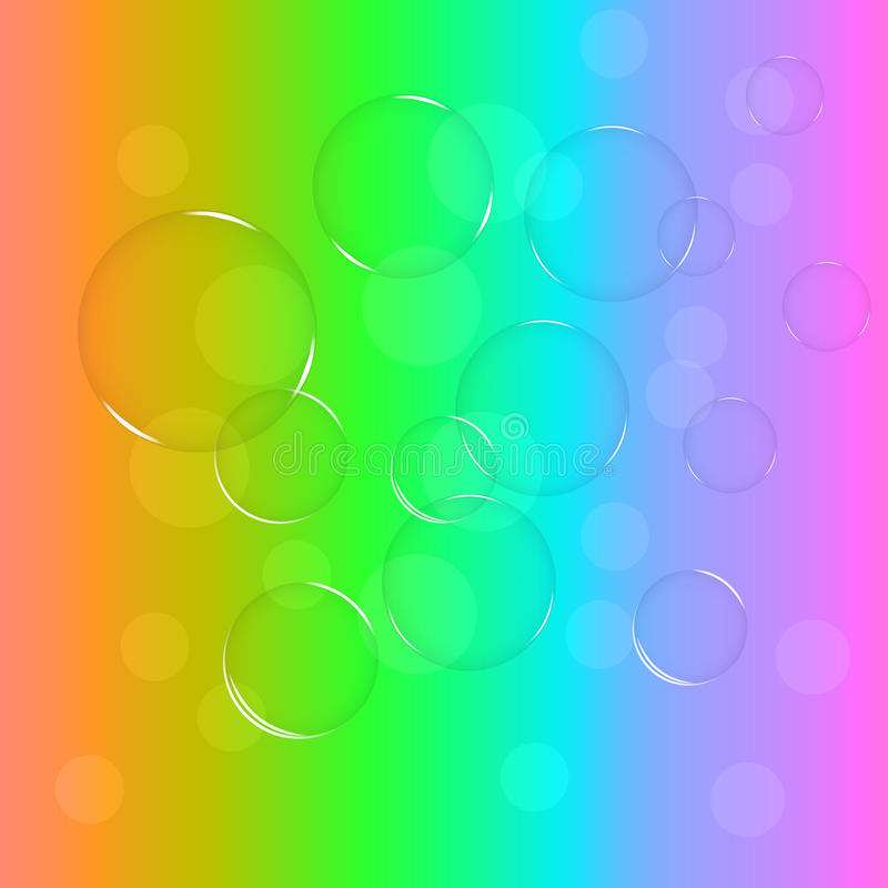 Пузыри радуги стоковые фото