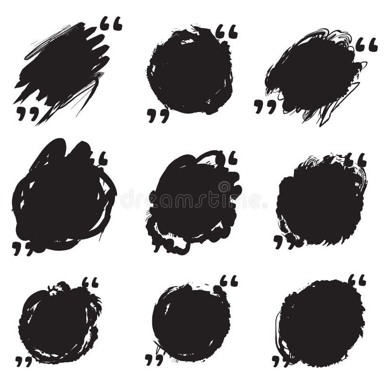 Пузыри речи цитат Смогите быть использовано для коротких кавычек иллюстрация штока