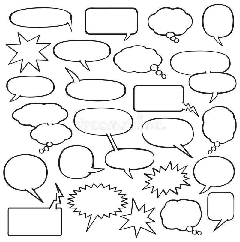 Пузыри речи шаржа бесплатная иллюстрация